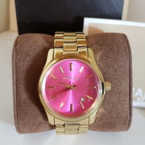 MK Pink and Gold Watch